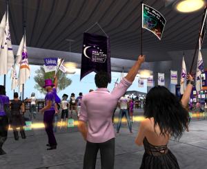Aeon & Mireille Cheer at RFL of SL Relay Weekend Opening Ceremonies