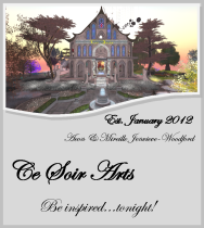 Ce Soir Arts NEW November 2012 LOGO