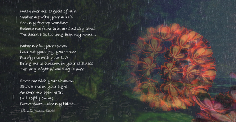 SLAKE: Poem & photo by Mireille Jenvieve ©2013 (taken at Hydrangea, Leroy sim by Quark Fallen