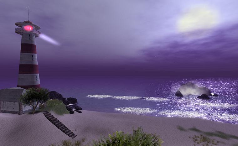 Moon over Ce Soir Bay