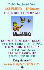 Join us on FAB FRIDAY for this special event to support Creations for Parkinsons TEAM FOX!