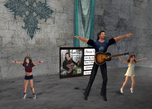 Russell, Peace, and Maerin dancing up a storm!