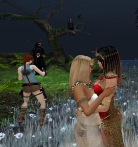 Ariel & Isis Sharing a Dance (we think that's Kedwyn too)