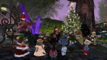tinies-gathering-for-carolling-at-the-magic-tree-2015