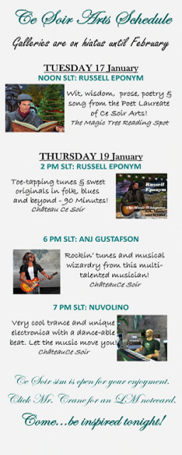 This week at Ce Soir Arts